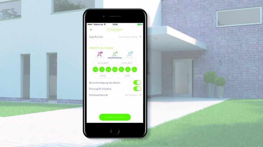 Schüco BlueCon - acces în interiorul casei printr-o simplă conectare Bluetooth