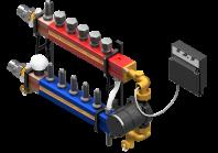 Statie de distribuire complet asamblata pentru incalzire prin pardoseala - TWINCO 3000