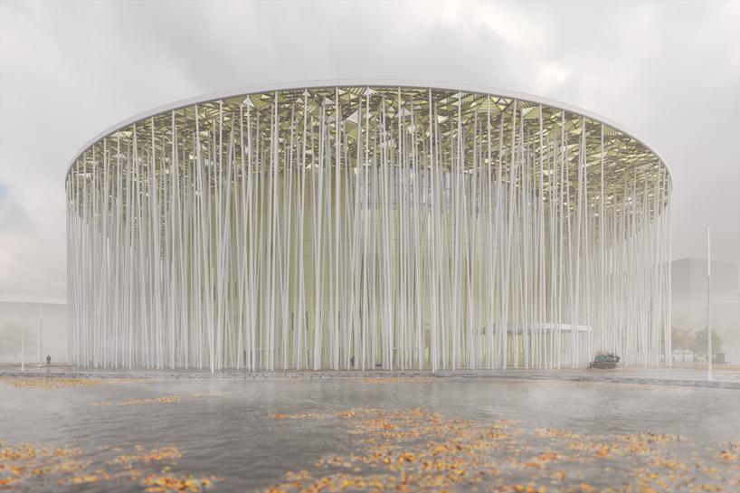Teatrul Wuxi Taihu Show, China Aceasta cladire impresionanta construita in orasul chinez Wuxi este creatia biroului Steven Chilton Architects, a caror inspiratie a fost cea mai mare padure de bambus a tarii, aflata in apropiere. Teatrul ar urma a fie deschis spre finalul anului.