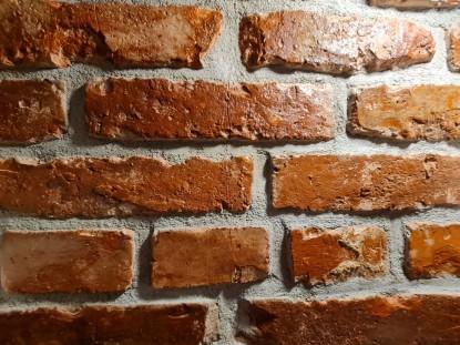 Renovarea unei băi cu cărămidă recuperată RUSTIC  BRICKED - SAVED BRICKS OF TRANSILVANIA