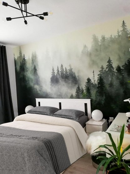 Camera cu fototapet - Padure in ceata   Bucuresti TOP RESERVE BUSINESS