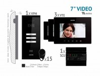 Kit video EXTRA 7'', panou aparent VKE.P3SR.T7S9.ELB04