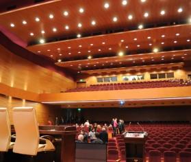 Tratamente acustice rezistente la foc pentru plafoane și compartimentări din cadrul Auditorium Pallady, București