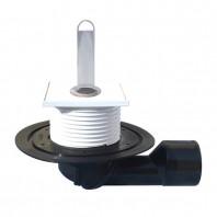 Sifon de pardoseala DN50 75 cu articulatie cu obturator de mirosuri cu ventil plat si teava