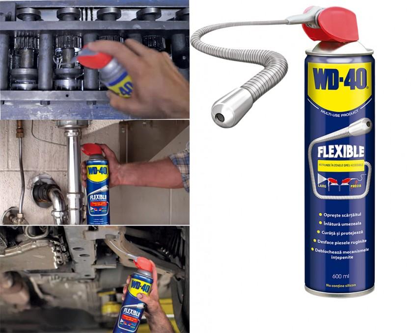 WD-40 FLEXIBLE - spray-ul care pătrunde unde niciun alt produs nu a ajuns