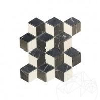 Mozaic Marmura Mix Cube Design Mata (Bianco Carrara, Cleopatra, Nero Marquina) MPN-1994