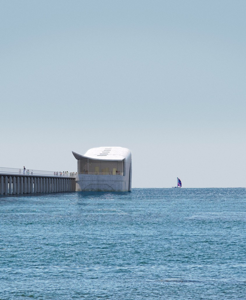 Un observator subacvatic ca o balenă care tâșnește din apă