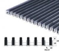 Stergator profesional din aluminiu cu gratare verticale din cauciuc EPDM - Neptun