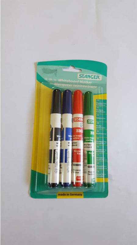Marker whiteboard set 4 Stanger 1-3 mm