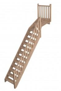 Scara pe structura din lemn Provence