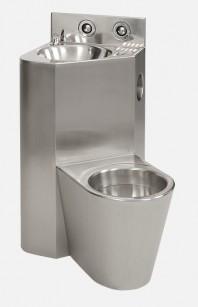 Combinatie de lavoar si vas WC din otel inox - SANELA SLWN 08P