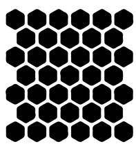 Sablon decorativ 3D Hexagonal, reutilizabil