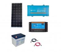 Kit Fotovoltaic Off-Grid 150W cu invertor de 250VA
