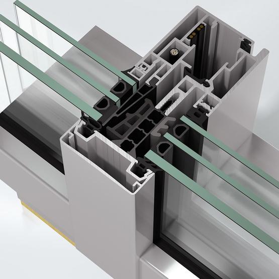 Sistem de profile din aluminiu pentru pereti cortina - Schüco FWS 60 CV