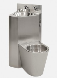 Combinatie de lavoar si vas WC din otel inox - SANELA SLWN 18ZP