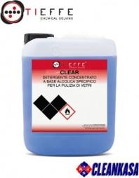 Detergent profesional pentru spalat sticla si cristale, concentrat, cu evapoarare rapida - TIEFFE CLEAR