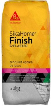 SikaHome® Finish G-Plaster - Tencuiala usoara de ipsos, cu aplicare mecanizata destinata suprafetelor interioare