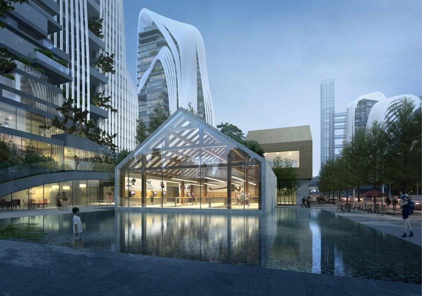 Centrul Nanjing Zendai Himalayas, Nanjing -  MAD Architects