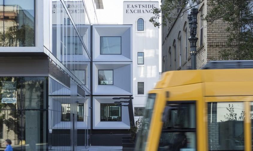 Volume suprapuse transformă clădirea Slate din Portland într-o minune a eficienței
