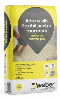 Adeziv alb flexibil pentru marmura - weberset marmo plus