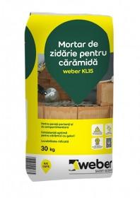 Mortar pentru zidarie din caramida weber KL15