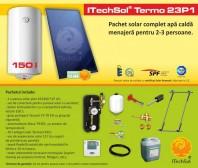 Pachet solar (kit) complet Casa Verde pentru apa calda menajera pentru 2-3 persoane - ITechSol® Termo