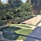 Platforma circulabila din panouri de sticla si balustrada cu prindere in puncte - deasupra Casei Domnesti