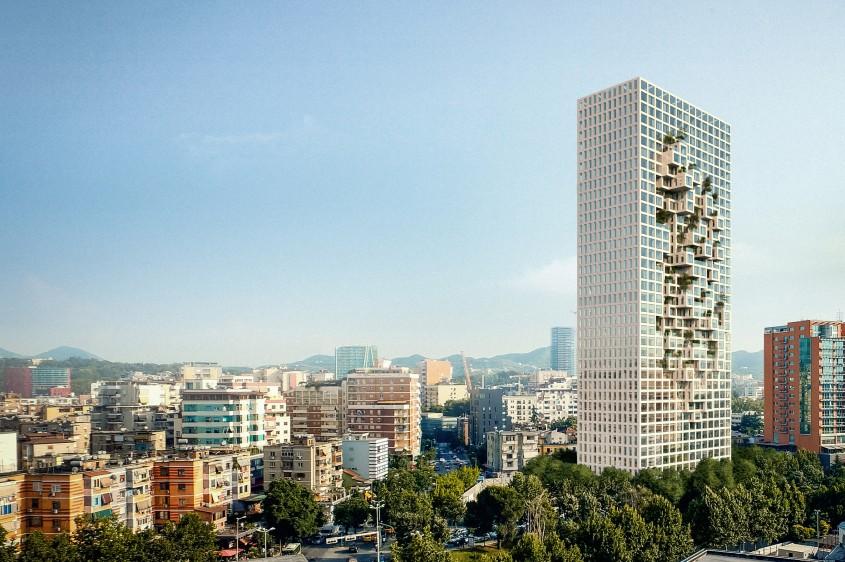 Cea mai înaltă clădire a Albaniei va avea harta țării pe fațadă (Foto)