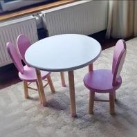 Set scaun IEPURAȘ și măsuță rotundă