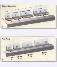 Sistem de fixare din aluminiu pentru placaje uscate exterioare - EUROFOX XFOX