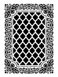 Sablon decorativ 3D, Carpet, reutilizabil, plastic alb