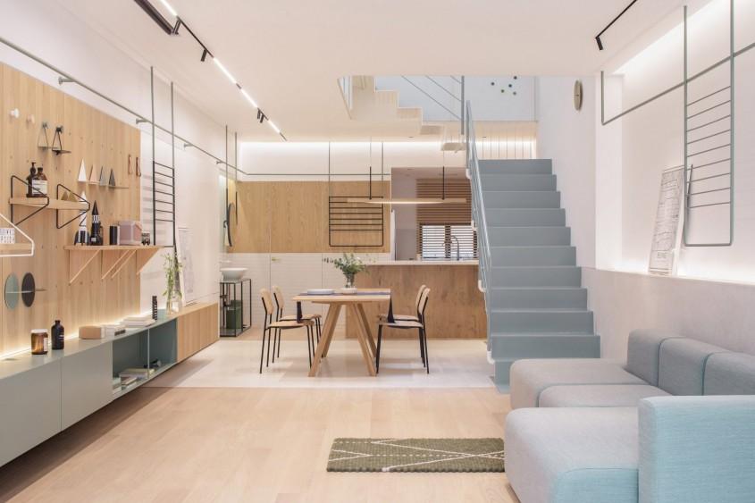 Mobilierul modular transformă această casă din 1947 într-o locuință luminoasă cu forme jucăușe