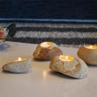Suport Lumanari Handmade - Sandstone Mandras PIATRAONLINE  AG-2804
