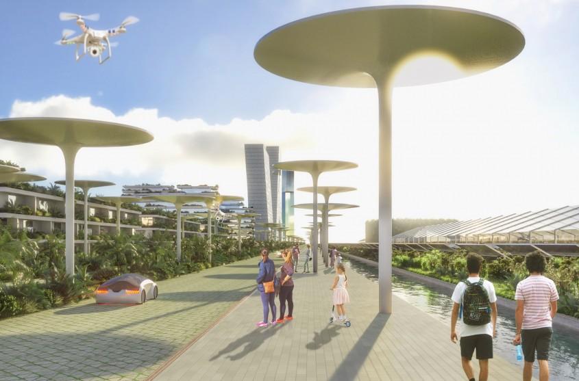 Un nou tip de așezare umană: Orașul-pădure acoperit cu 7,5 milioane de plante