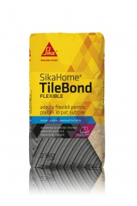 SIKAHOME® TILEBOND FLEXIBLE - Adeziv flexibil modificat cu polimeri, pentru aderenta ridicata, lipire puternica si flexibila.