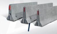 "Parapete prefabricate din beton tip ""NEW JERSEY"" - seria DB 120"