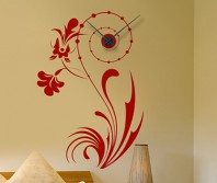 "Sticker tip ceas de perete ""Floral"""