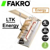 Scara din lemn pentru acces in pod - FAKRO LTK Energy