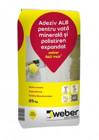 Adeziv alb pentru vata minerala si polistiren expandat - weber R40 max2