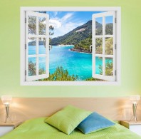 Fereastra cu efect 3D - Insula Thassos, Grecia - 119x93 cm
