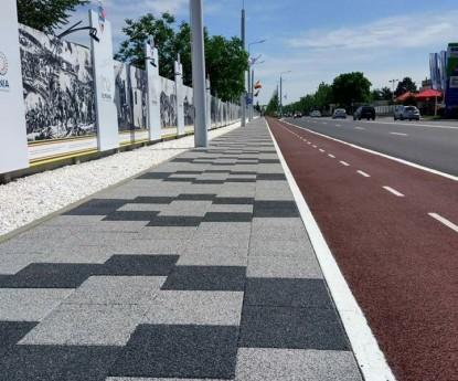 Bulevardul Unirii, Buzau - dupa lucrarile de refacere a trotuarului  Buzau ELIS PAVAJE