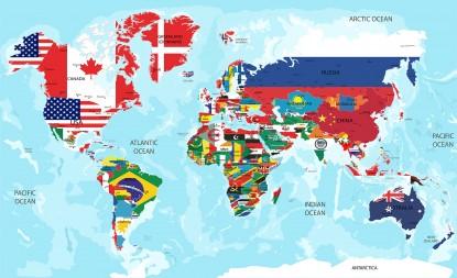 Fototapet harta lumii  Sadu, jud Sibiu TOP RESERVE BUSINESS