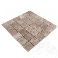 Mozaic Marmura Light Emperador Antichizata 4.8 x 4.8cm MPN-3155