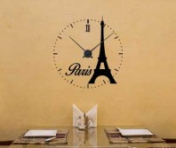 "Sticker tip ceas de perete ""Paris"""