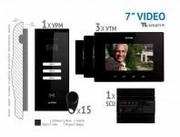 Kit video SMART + 7'', panou aparent - VKM.P3SR.T7S4.ELB04
