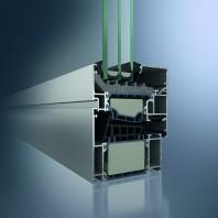 Profil din aluminiu pentru fereastra - Schüco AWS 90. SI+ green