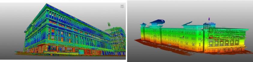 Scanari 3D realizate in timpul proiectului pentru Universitatea de Arhitectura Ion Mincu  Bucuresti GRAPHEIN GRAPHEIN