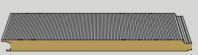 Panou metalic autoportant din vata minerala cu imbinare ascunsa - FIRE SUPER WALL