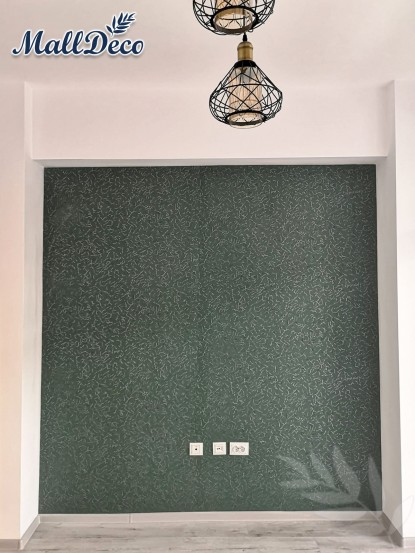 Detaliu perete cu tapet de vinil Merlen  Bucuresti TOP RESERVE BUSINESS