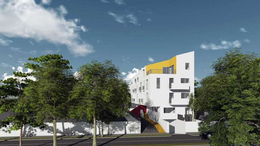 Locuinte colective D+P+2E+M - Bucuresti - str. Peris - 01.14  Bucuresti AsiCarhitectura